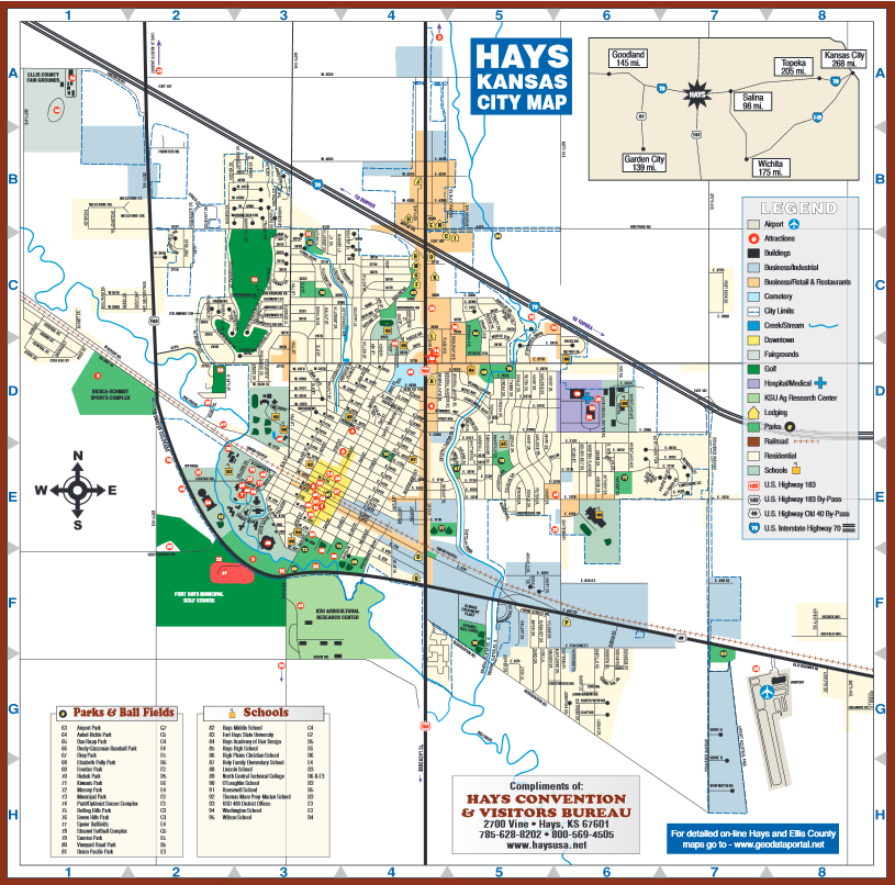 Fort Hays State University Campus Map.About Hays Visitor Links Fhsu